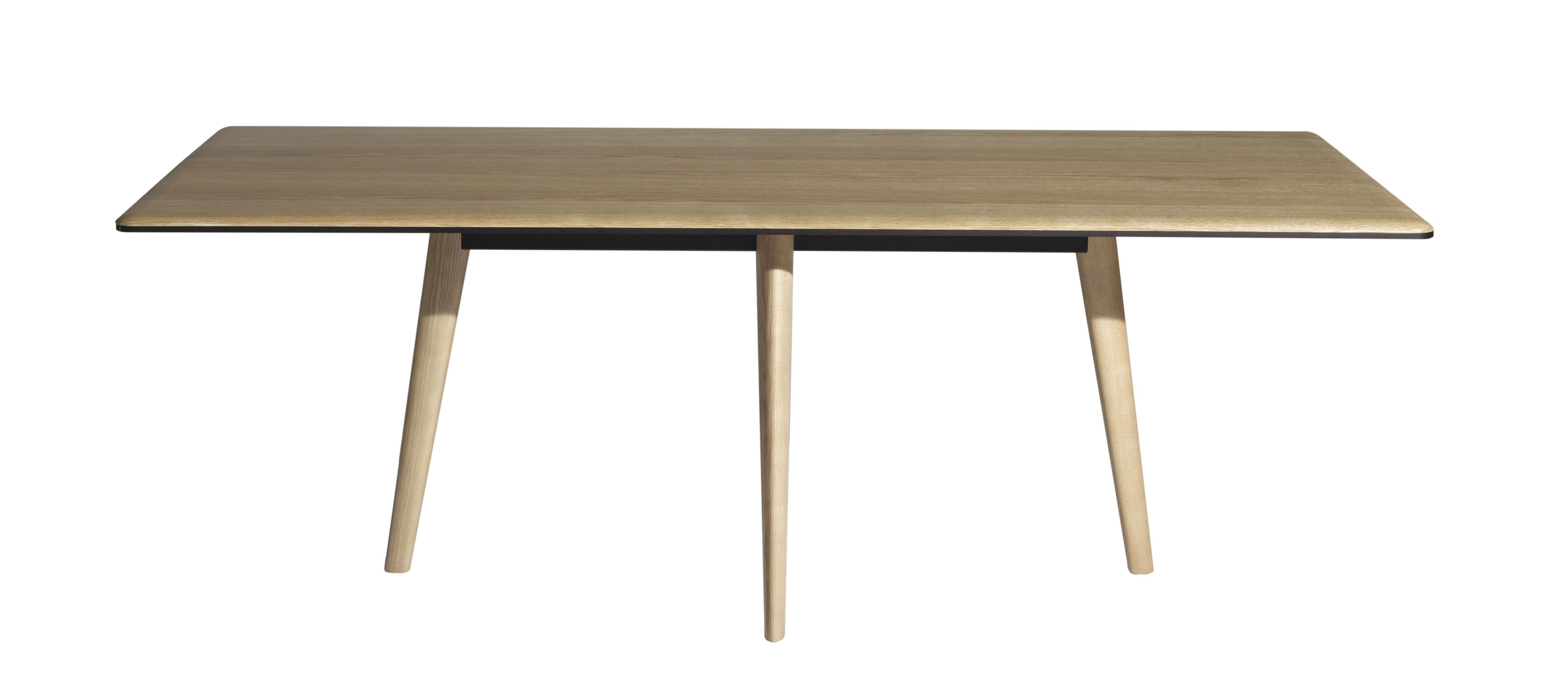 Möbel - Tische - François rechteckiger Tisch / 210 x 100 cm - Tischplatte aus Holz - Driade - Eiche, hell - Aluminium, Frêne massif verni, Massiveiche, lackiert