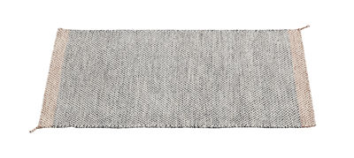 Decoration - Rugs - PLY Rug - 85 x 140 cm by Muuto - Black & white - Wool
