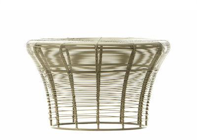 Image of Sgabello Aram - / Fatto a mano - Ø 41 x H 25 cm di Gan - Beige - Metallo
