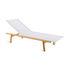 Pevero Sun lounger - / Multi-position - Teak and fabric by Unopiu