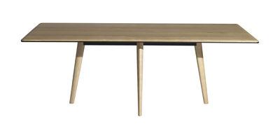 Mobilier - Tables - Table rectangulaire François / 210 x 100 cm - Plateau Bois - Driade - Chêne clair - Aluminium, Chêne massif verni, Frêne massif verni