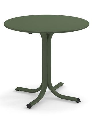 Table ronde System / Ø 120 cm - Emu vert militaire en métal