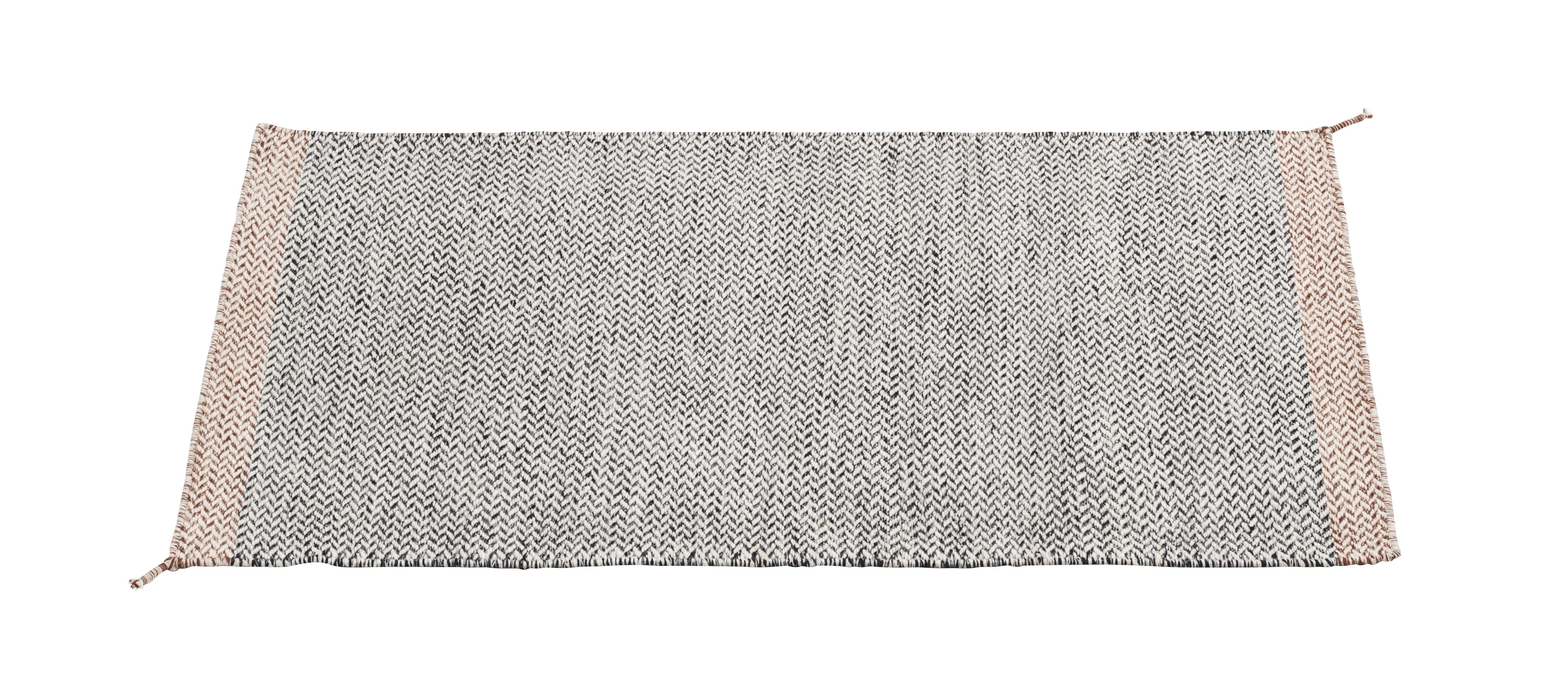Interni - Tappeti - Tappeto PLY / 85 x 140 cm - Tessuto a mano - Muuto - Noir & blanc - Lana