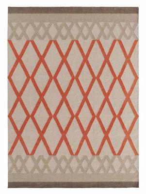 Interni - Tappeti - Tappeto Sioux Kilim / 170 x 240 cm - Reversibile - Gan - Bianco / Motivi arancioni - Lana