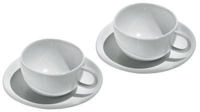 Tasse à espresso Fruit basket / Set 2 tasses + 2 soucoupes - Alessi blanc en céramique