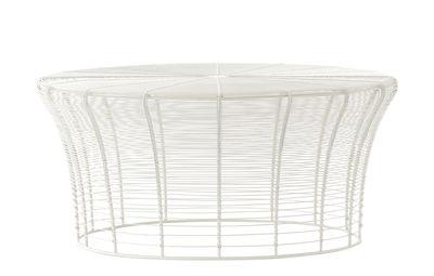 Arredamento - Tavolini  - Tavolino Aram - / Fatto a mano - Ø 71 x H 33 cm di Gan - Bianco - Acciaio inox termolaccato