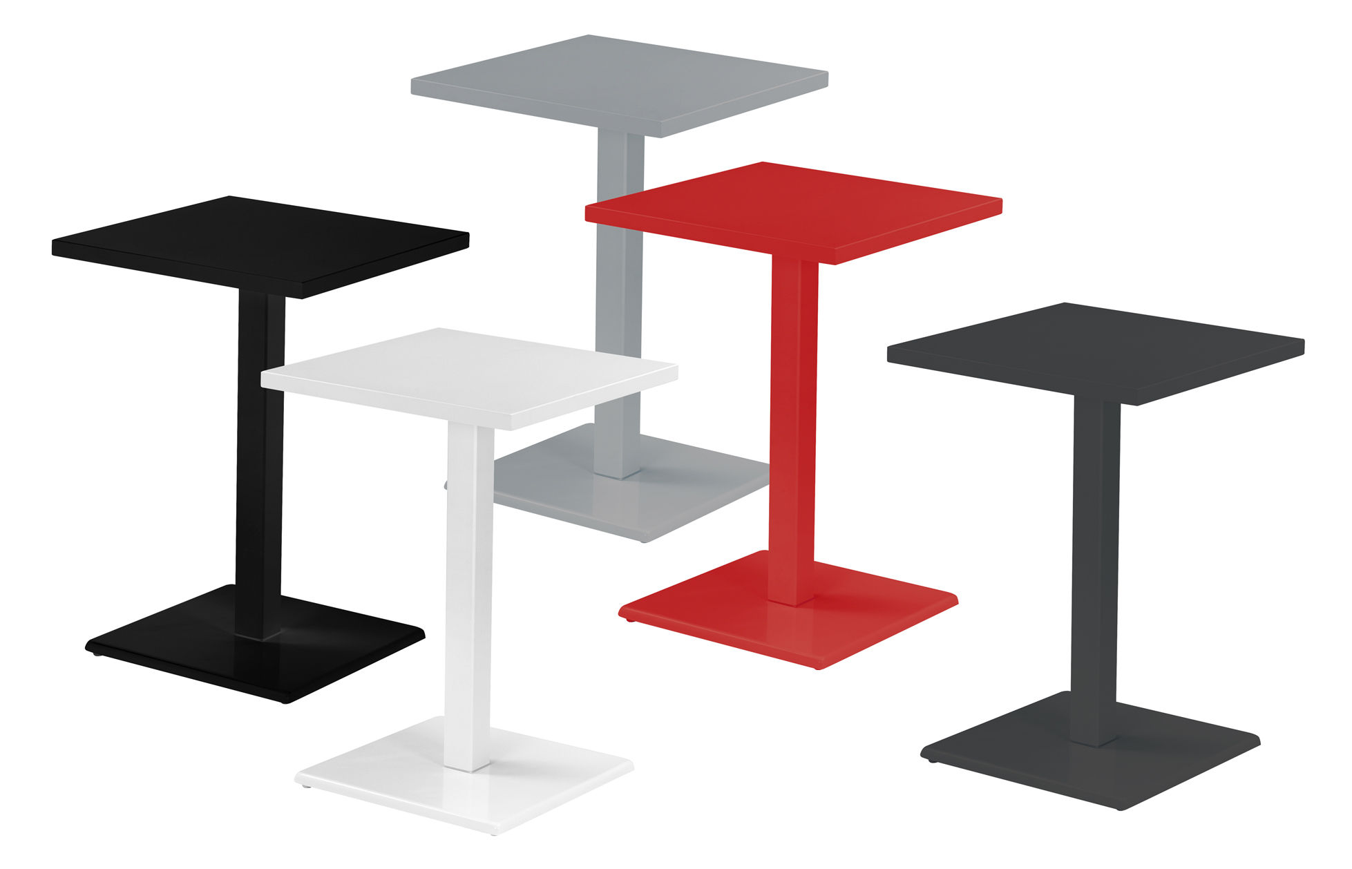Tavoli Alti Bar : Tavolo bar alto round emu nero h made in design