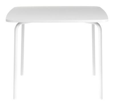 Arredamento - Tavoli - Tavolo quadrato My Table Small - / 90 x 90 cm di Normann Copenhagen - Bianco - Acciaio laccato, Laminato