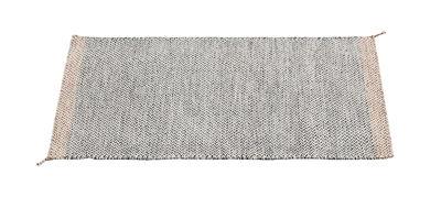 PLY Teppich / 85 x 140 cm - handgewebt - Muuto - Weiß,Schwarz
