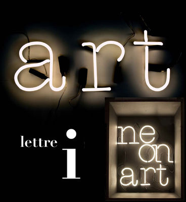 Lighting - Wall Lights - Neon Art Wall light with plug - Letter I by Seletti - White / Black cable - Glass