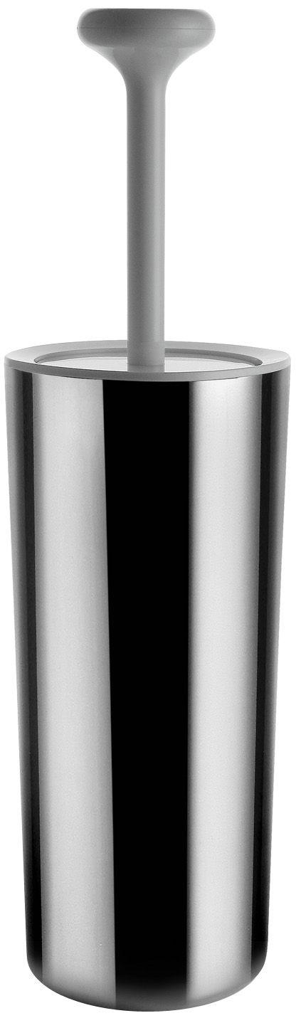Dekoration - Badezimmer - Birillo WC Bürste - Alessi - Stahl und weiß - PMMA, rostfreier Stahl