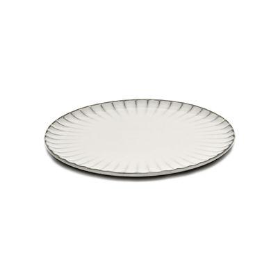 Arts de la table - Assiettes - Assiette Inku / Ø 24 cm - Grès - Serax - Ø 24 cm / Blanc - Grès émaillé