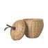 Apple Small Basket - / Wicker - Ø 20 x H 28 cm by Ferm Living