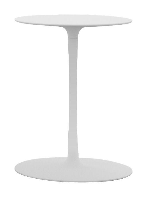 Möbel - Couchtische - Flow Beistelltisch H 57 cm - MDF Italia - Matt weiß - Cristalplant, lackiertes Aluminium