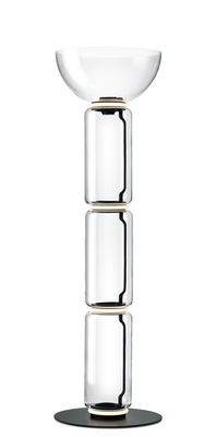 Leuchten - Stehleuchten - Noctambule Dôme Bodenleuchte / LED - Ø 55 x H 190 cm - Flos - Transparent - geblasenes Glas, Gussaluminium, Stahl