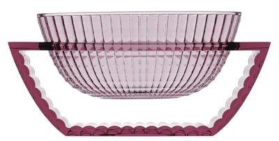 Centre de table U Shine - Kartell rose poudré en matière plastique