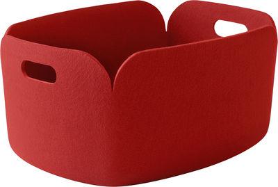 Accessori moda - Accessori bagno - Cestino Restore - 100% reciclato di Muuto - Rosso - Feutre recyclé