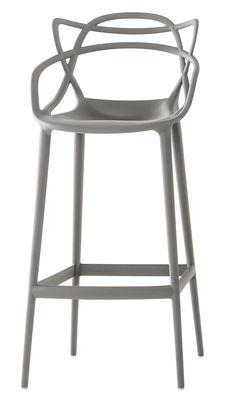 Chaise de bar Masters / H 75 cm - Polypropylène - Kartell gris en matière plastique
