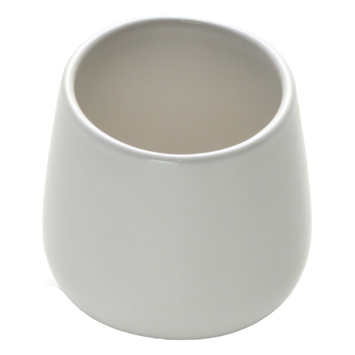 Tableware - Coffee Mugs & Tea Cups - Ovale Coffee cup by Alessi - White - Stoneware ceramic