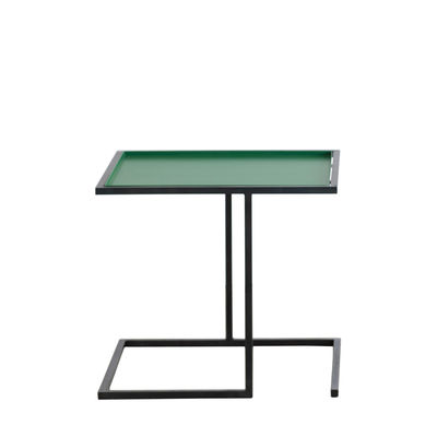 Furniture - Coffee Tables - Andrea End table - / 44 x 44 cm - Metal by Serax - Emerald green / Black foot - Steel