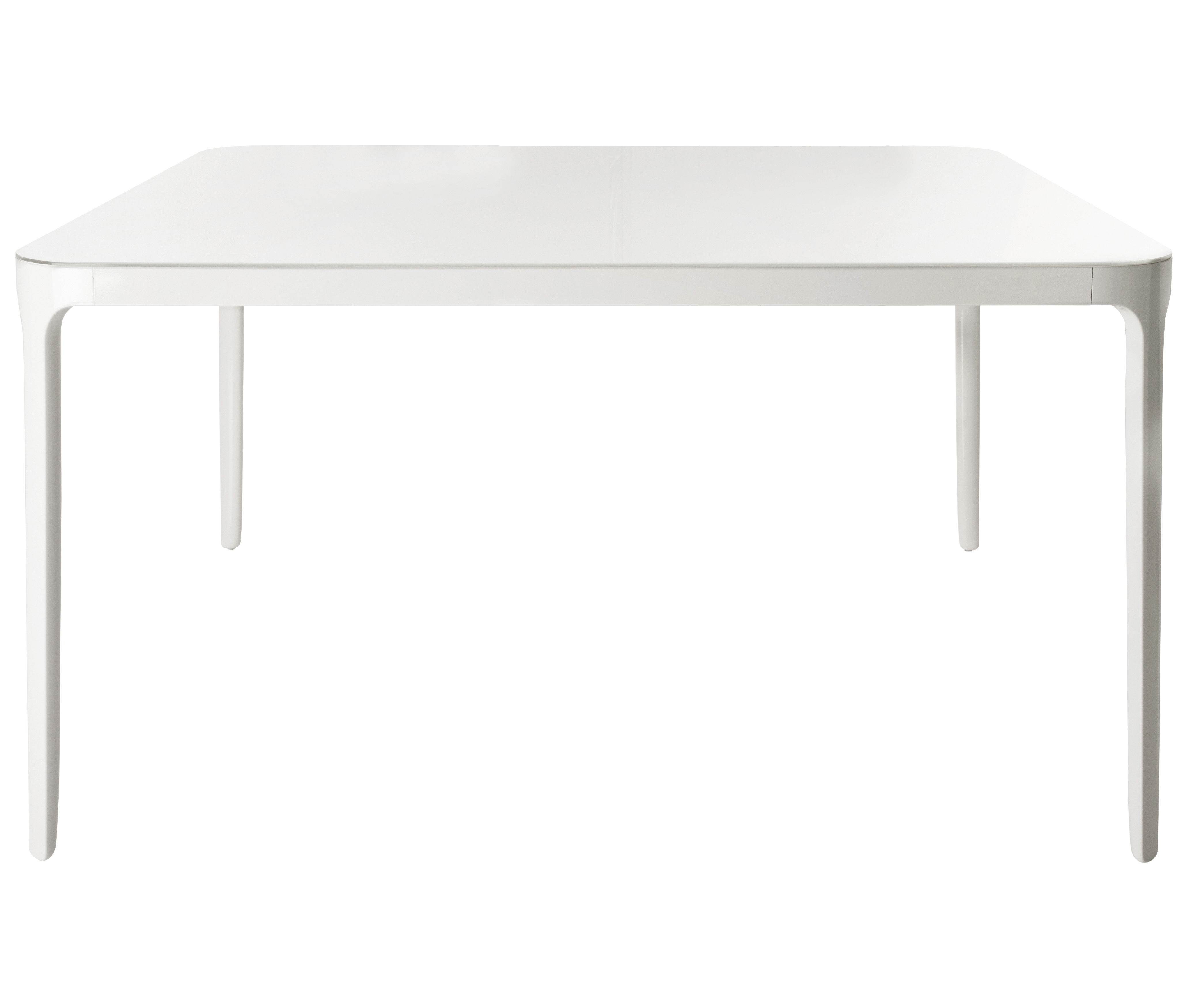 Furniture - Dining Tables - Vanity Extending table - with extension - L 160 à 220 cm by Magis - White - L 160/220 cm - Varnished aluminium, Varnished soak glass
