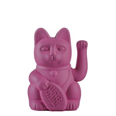 Image of Figurina Lucky Cat - / Plastica di Donkey - Viola - Materiale plastico