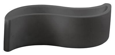 Jardinière Wave / Banc - L 160 cm - Plastique - Slide gris en matière plastique