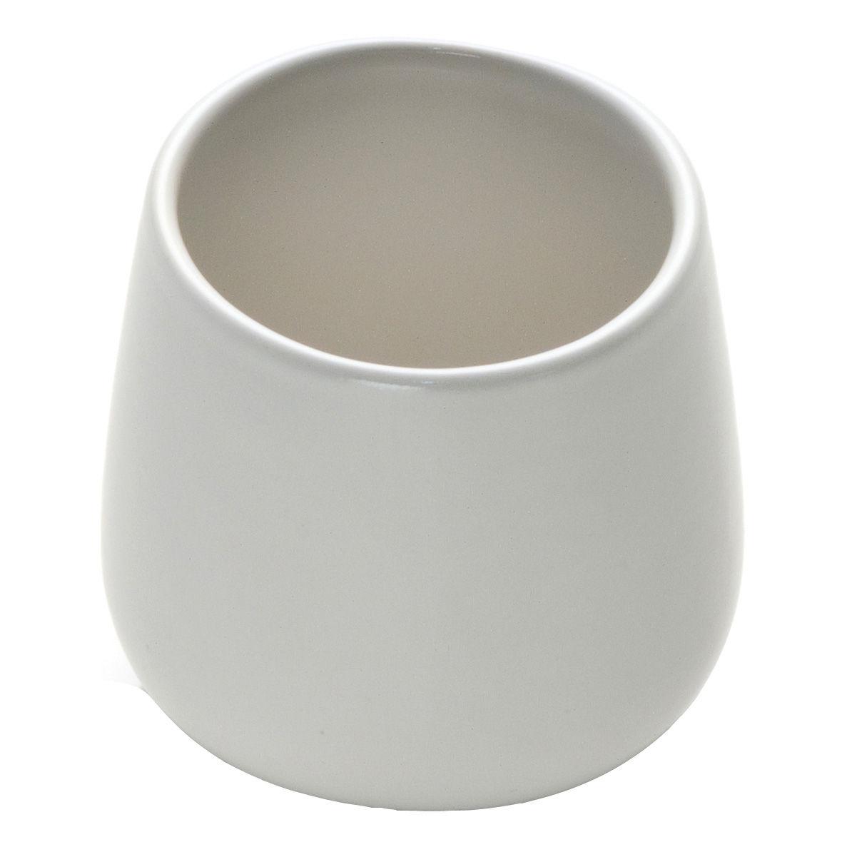 Tischkultur - Tassen und Becher - Ovale Kaffeetasse - Alessi - Weiß - Keramik im Steinzeugton