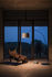 Lampada a stelo Twiggy Wood LED - / Acero sbiancato - H 195 a 215 cm di Foscarini