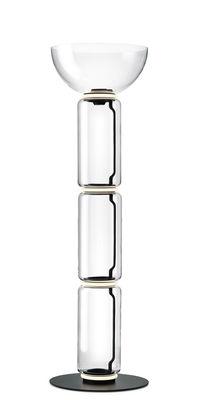 Lampe à poser Noctambule Dôme / LED - Ø 55 x H 190 cm - Flos noir,transparent en verre