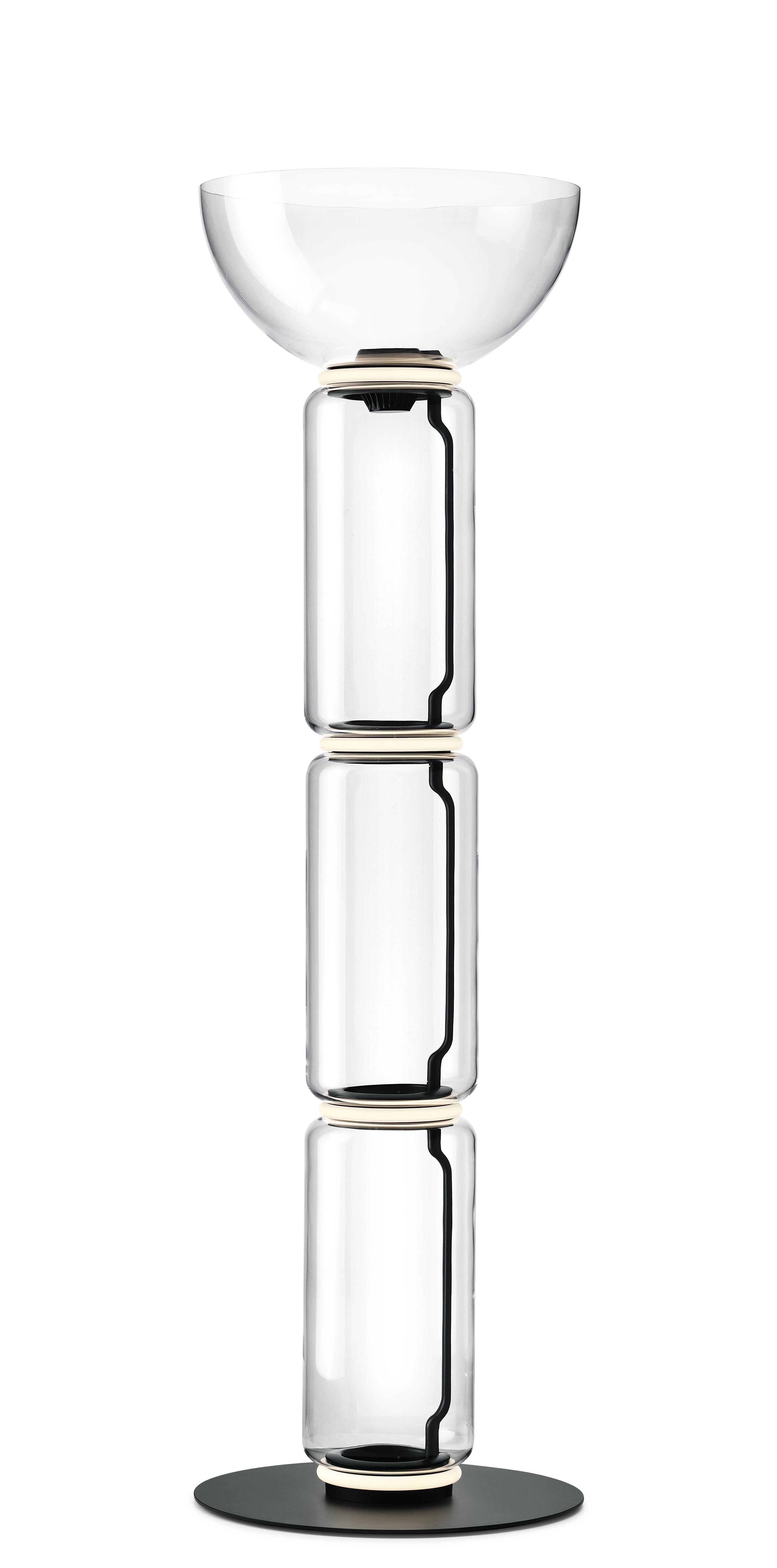 Luminaire - Lampadaires - Lampe à poser Noctambule Dôme / LED - Ø 55 x H 190 cm - Flos - Transparent - Acier, Fonte d'aluminium, Verre soufflé