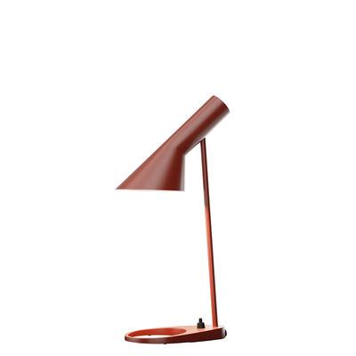Lampe de table AJ Mini (1960) / H 43 cm - Louis Poulsen rouge rouille en métal