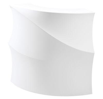 Furniture - High Tables - Baraonda Luminous bar - Angle unit with work surface + shelf - LED RGB by MyYour - White -