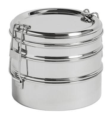 Cuisine - Boîtes, pots et bocaux - Lunch box Acier / 3 étages - Ø 13 x H 11 cm - Hay - Acier - Acier inoxydable