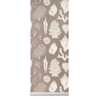 Papier peint Shells / 1 rouleau - Larg. 53 cm - Ferm Living rose en papier