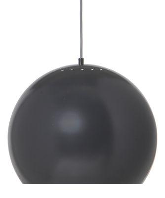 Lighting - Pendant Lighting - Ball Large Pendant - / Ø 40 cm - 1968 reissue by Frandsen - Matt grey - Varnished metal