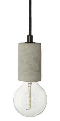 Lighting - Pendant Lighting - Bristol Pendant - / Concrete by Frandsen - Concrete / Black cable - Concrete, Fabric