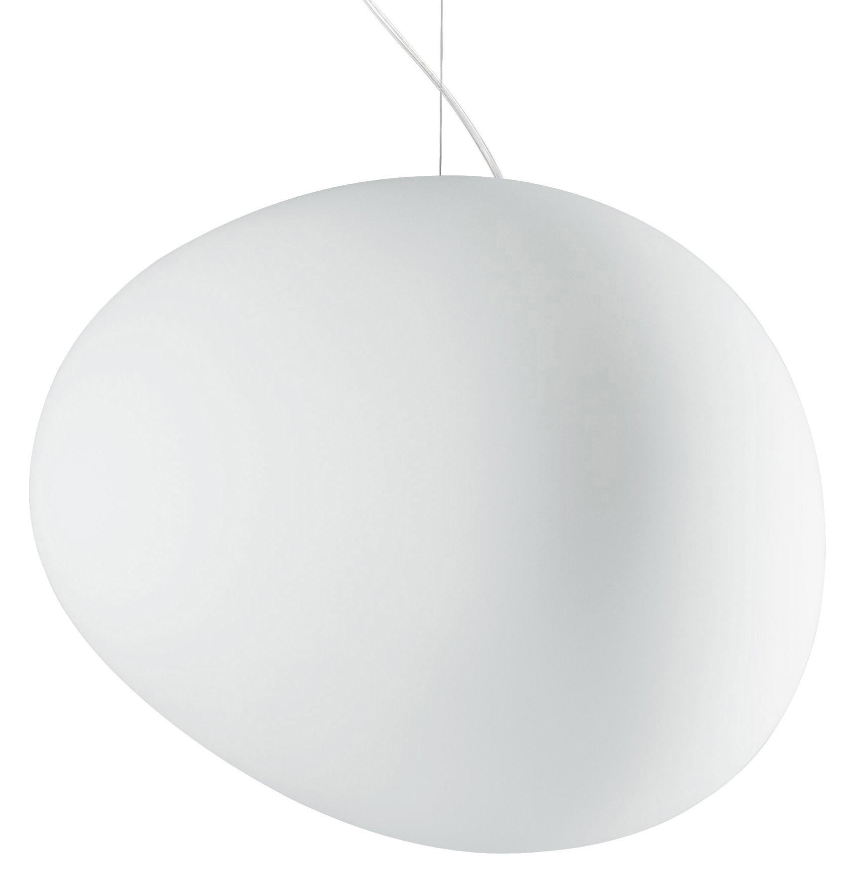Leuchten - Pendelleuchten - Gregg Grande Pendelleuchte Groß - Foscarini - Weiß - Grande (L 47 cm) - geblasenes Glas