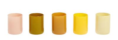 Photophore Spot / Set de 5 - Verre - Hay jaune en verre