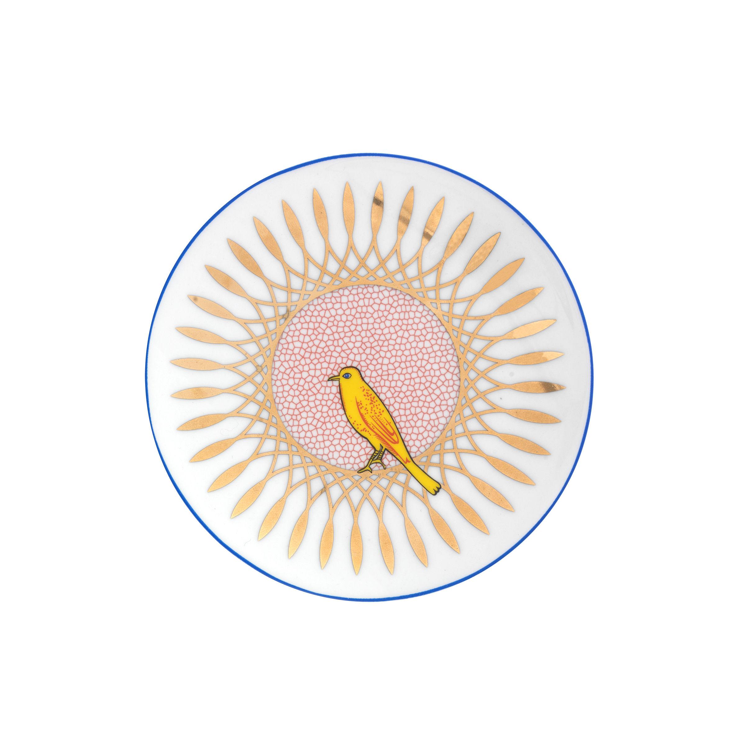 Tavola - Piatti  - Piatto da dessert Bel Paese - Uccellino - / Ø 12 cm di Bitossi Home - Uccello - Porcellana