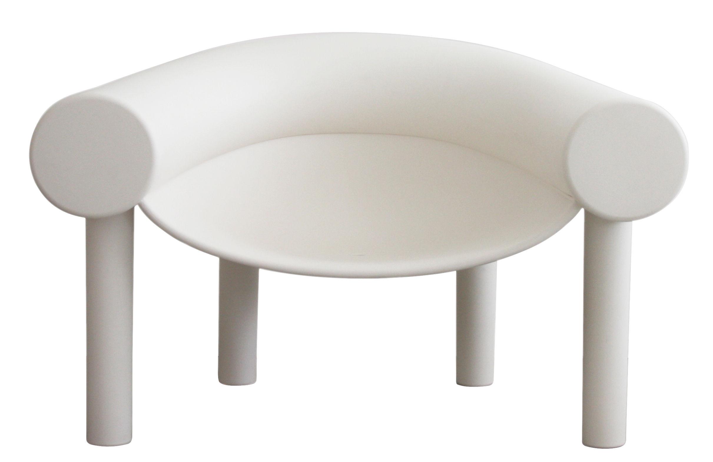 Arredamento - Poltrone design  - Poltrona bassa Sam Son / Plastica - Magis - Bianco - Materiale plastico
