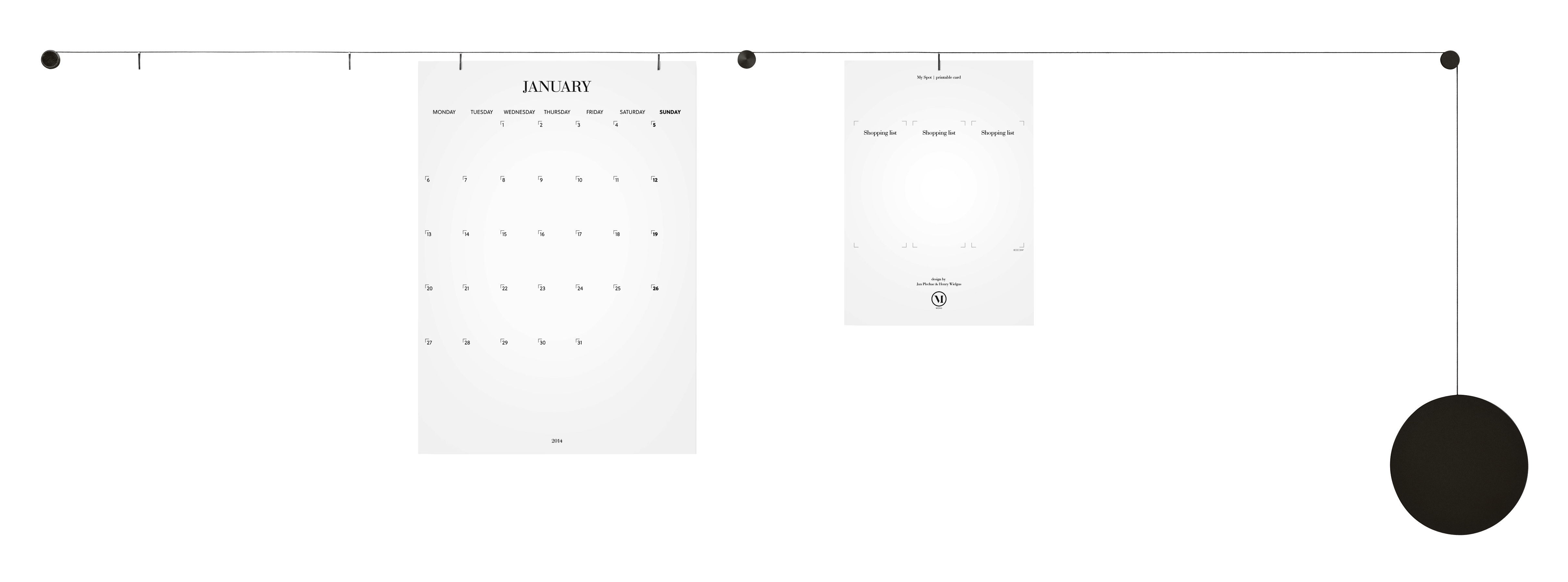 Interni - Promemoria, Calendari & Lavagne - Portafoto My spot - a parete - Cavo regolabile 200 cm di Menu - Nero - Alluminio anodizzato