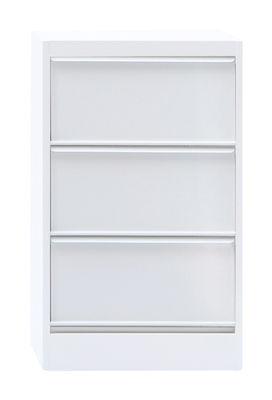 Arredamento - Raccoglitori - Portaoggetti Classeur à clapets CC3 di Tolix - Bianco - Acciaio riciclato laccato