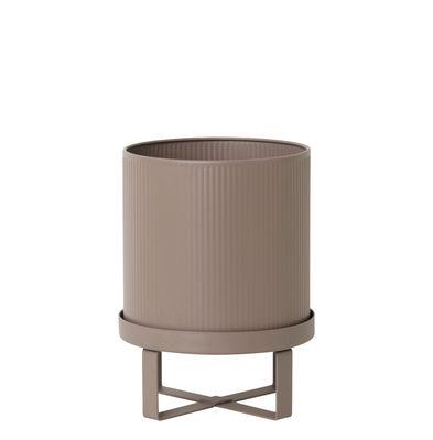 Outdoor - Pots et plantes - Pot de fleurs Bau Small / Ø 18 cm - Métal - Ferm Living - Rose ancien - Acier galvanisé