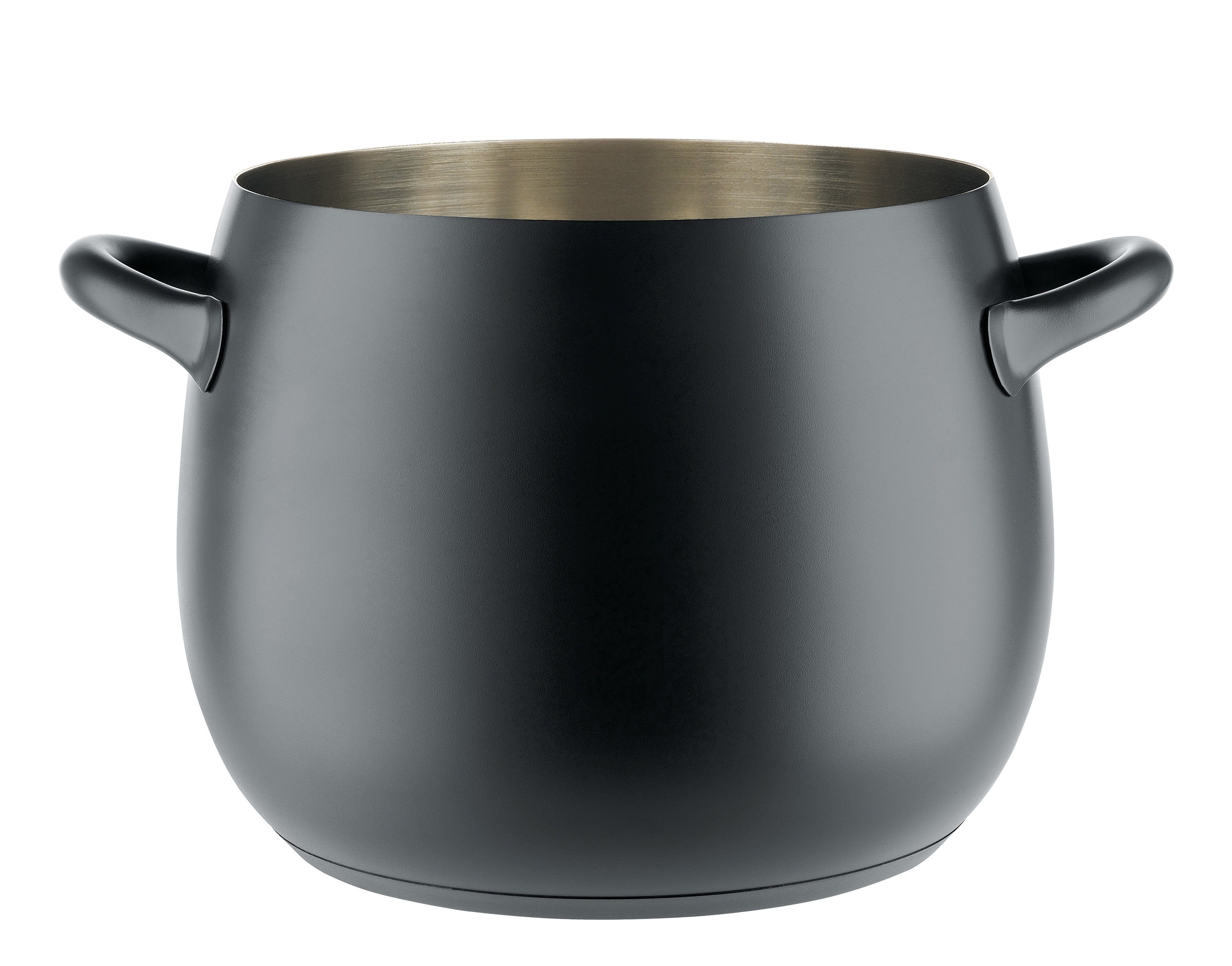 Kitchenware - Pots & Pans - Mami 3.0 Pot - 10 L / With lid by Alessi - Black - Acier magnétique, Silicone resin, Stainless steel