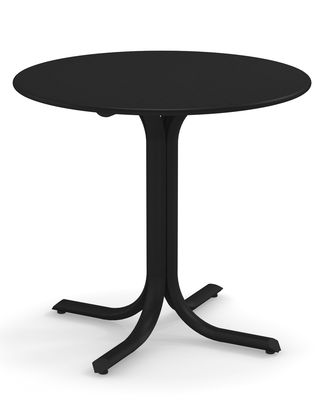 Outdoor - Garden Tables - System Round table - / Ø 120 cm by Emu - Black - Galvanised painted steel