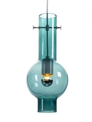 Illuminazione - Lampadari - Sospensione Novecento - / Bicchiere - H 35 cm di Serax - Blu-verde - Metallo, Vetro