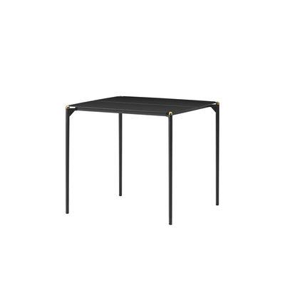 Outdoor - Garden Tables - Novo Square table - / 80 x 80 cm - Metal by AYTM - Black & gold - aluminium, powder coating, Powder-coated steel