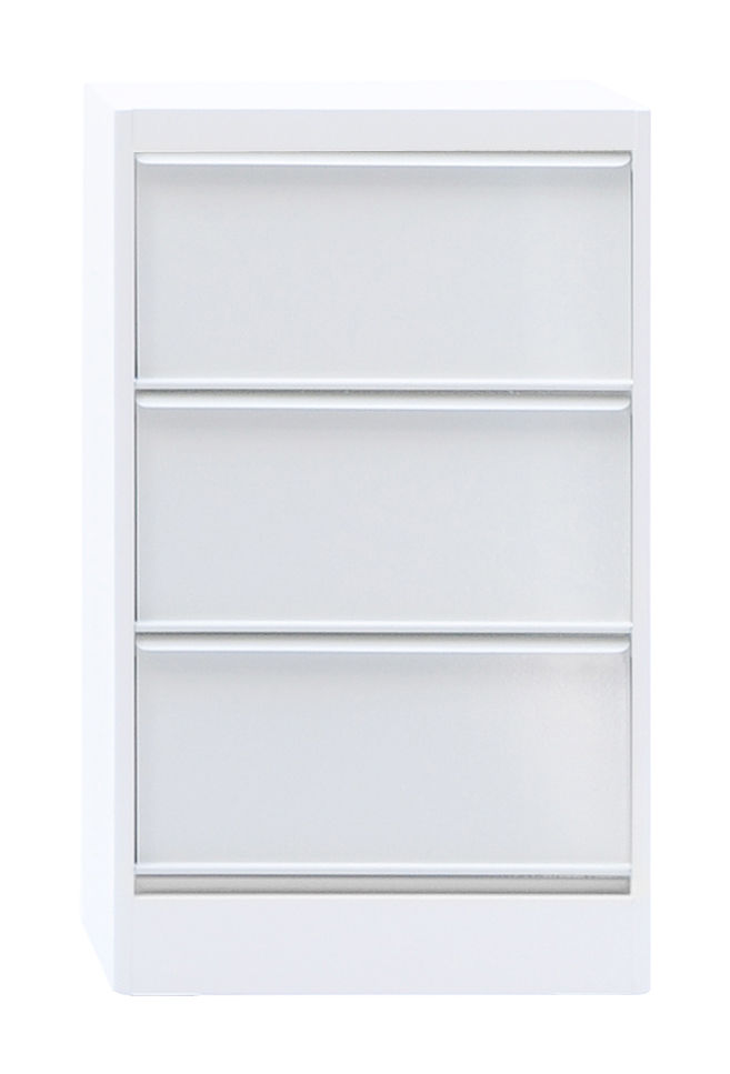Furniture - Shelves & Storage Furniture - Classeur à clapets CC3 Storage - 3 leaf-door storage cabinet by Tolix - White - Lacquered steel