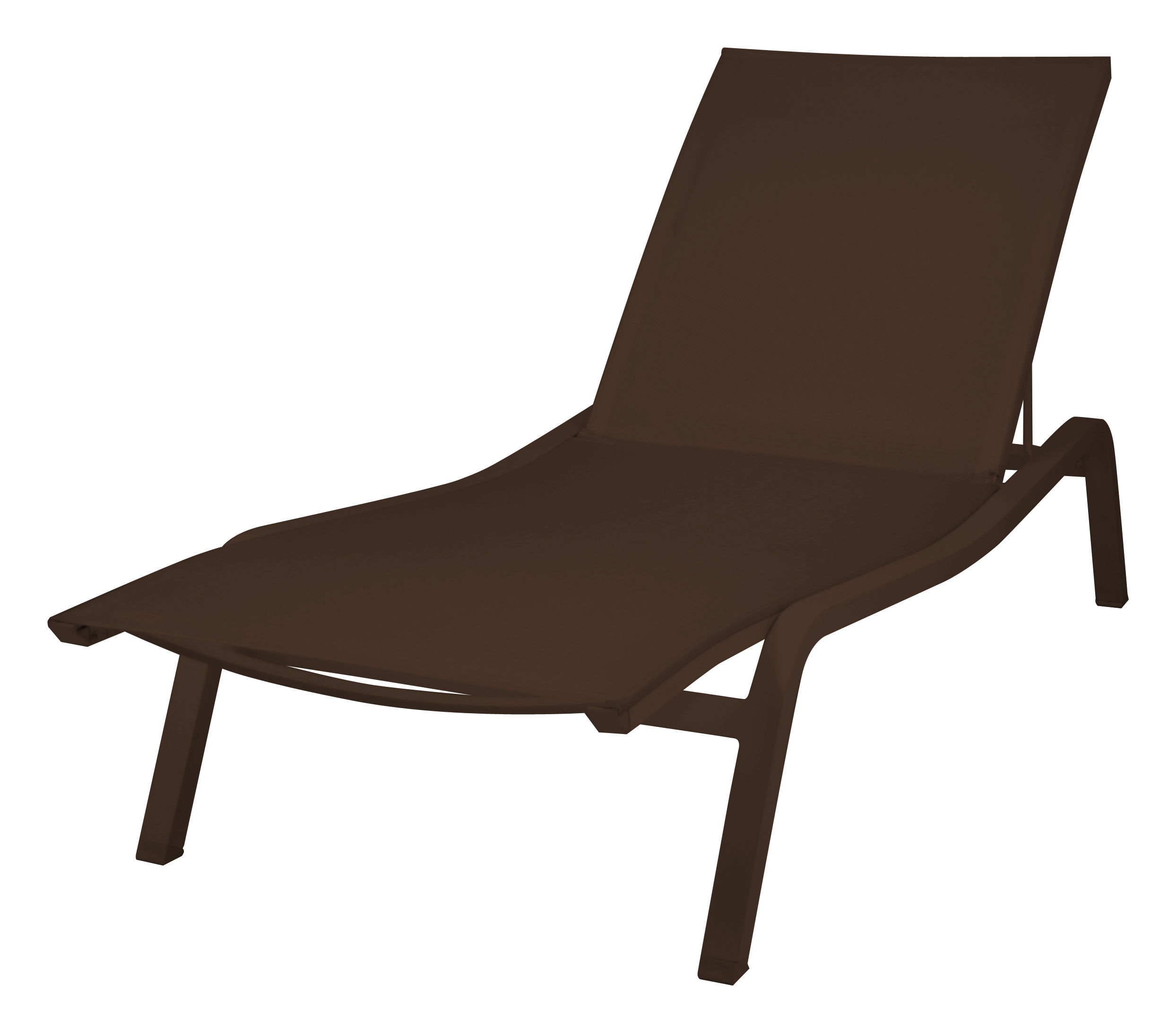 Outdoor - Sun Loungers & Hammocks - Alizé XS Sun lounger  - 3 positions by Fermob - Russet - Lacquered aluminium, Polyester cloth
